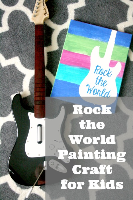 my life homemade: Rock the World Painting Craft for Kids