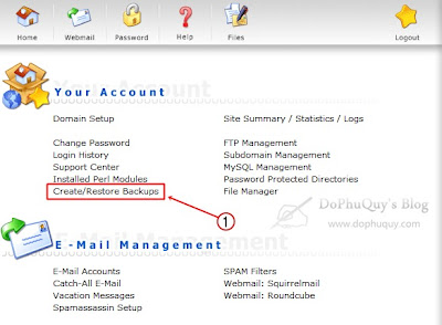 Backup data trong DirectAdmin