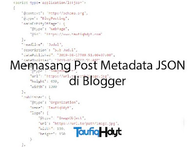 metadata json post di blogger