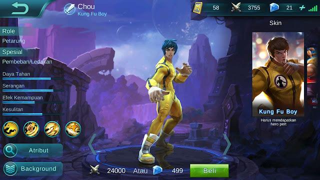 Hero Chou  ( Kung Fu Boy ) Dangerous Attack Build/ Set up Gear