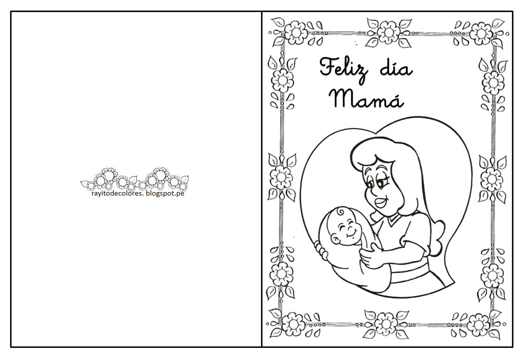 Wallpaper Dia De Las Madres Im 225 Genes D 237 A De La: Manualidades Dia De La Madre Para Colorear Rayito De
