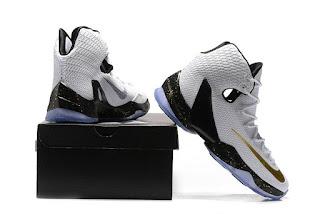 Sepatu Basket Nike LeBron 13 Elite white, toko sepatu basket , jual sepatu basket , basket nike muraah, nike lebron elite, black