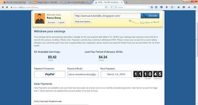 Adf.ly dan Cara Mendapatkan Uang Dollar Gratis dari Link Adf.ly