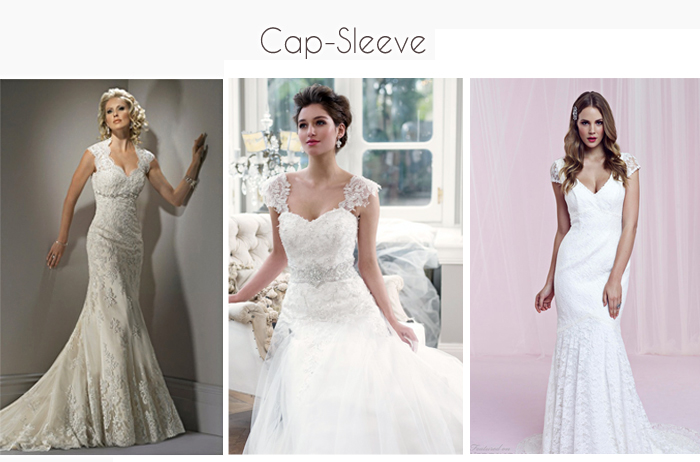 Wedding gowns with Cap sleeves