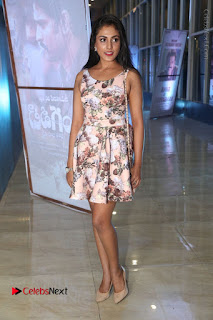 Actress Madhu Shalini Stills in Floral Short Dress at RGV Shiva to Vangaveeti Event  0151.JPG