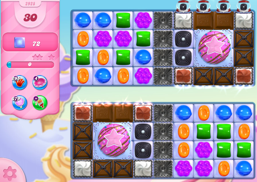 Candy Crush Saga level 2928