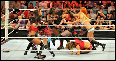 Becky Lynch, Sasha Banks, and Charlotte debut on Raw