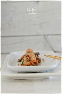 Receta ku-bak tres delicias (un plato chino de arroz inflado)
