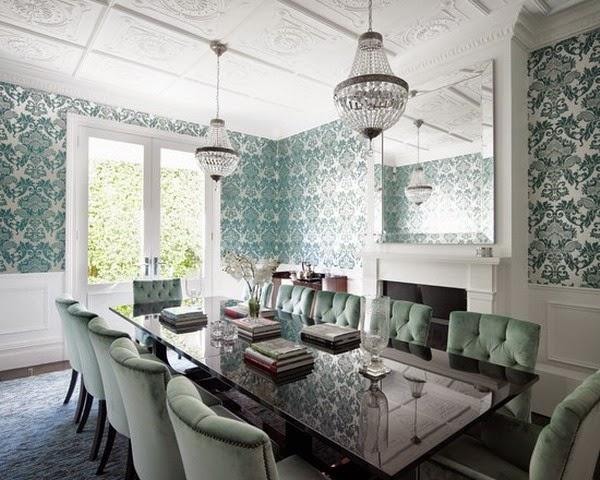 Desain Wallpaper Dinding Ruang Makan Keluarga Anda