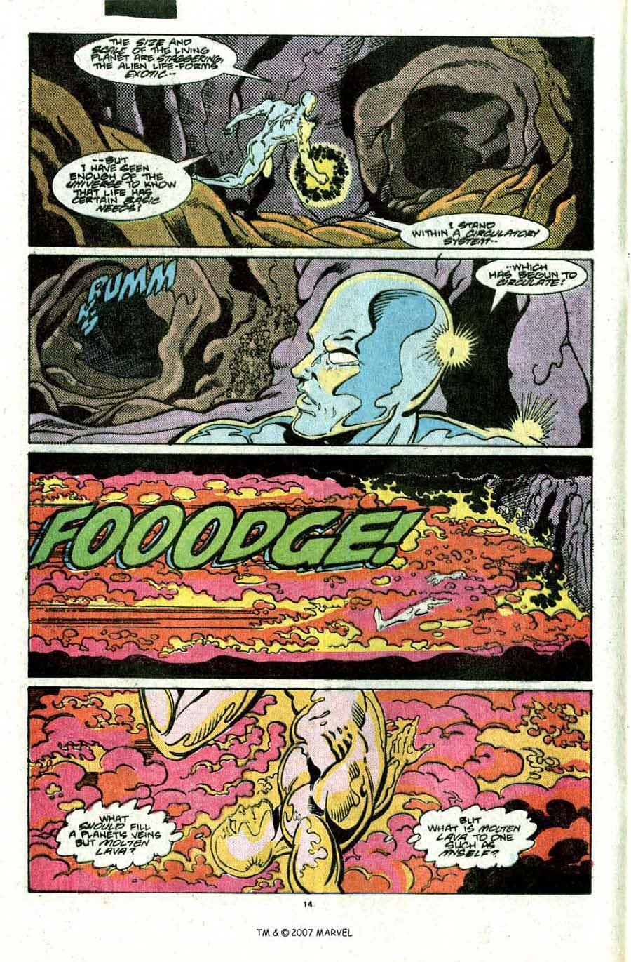 Read online Silver Surfer (1987) comic -  Issue #22 - 16