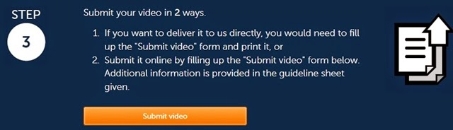 Step 3: Submit your video!