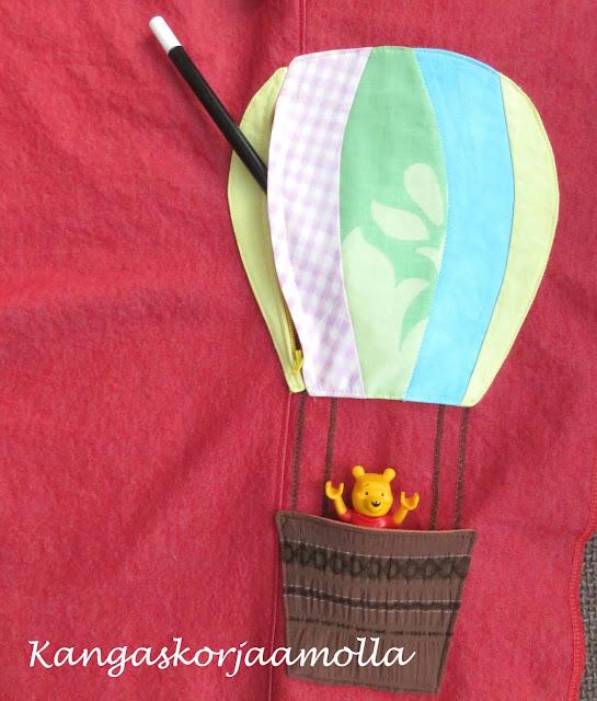 kuumailmapallo tasku