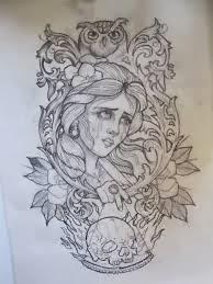 Fantastico Mundo Da Pri Desenho Mulher E Coruja Tatuagem
