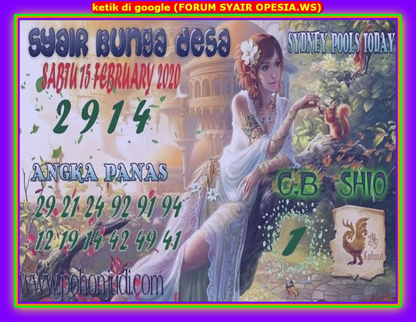 Kode syair Sydney Sabtu 15 Februari 2020 98