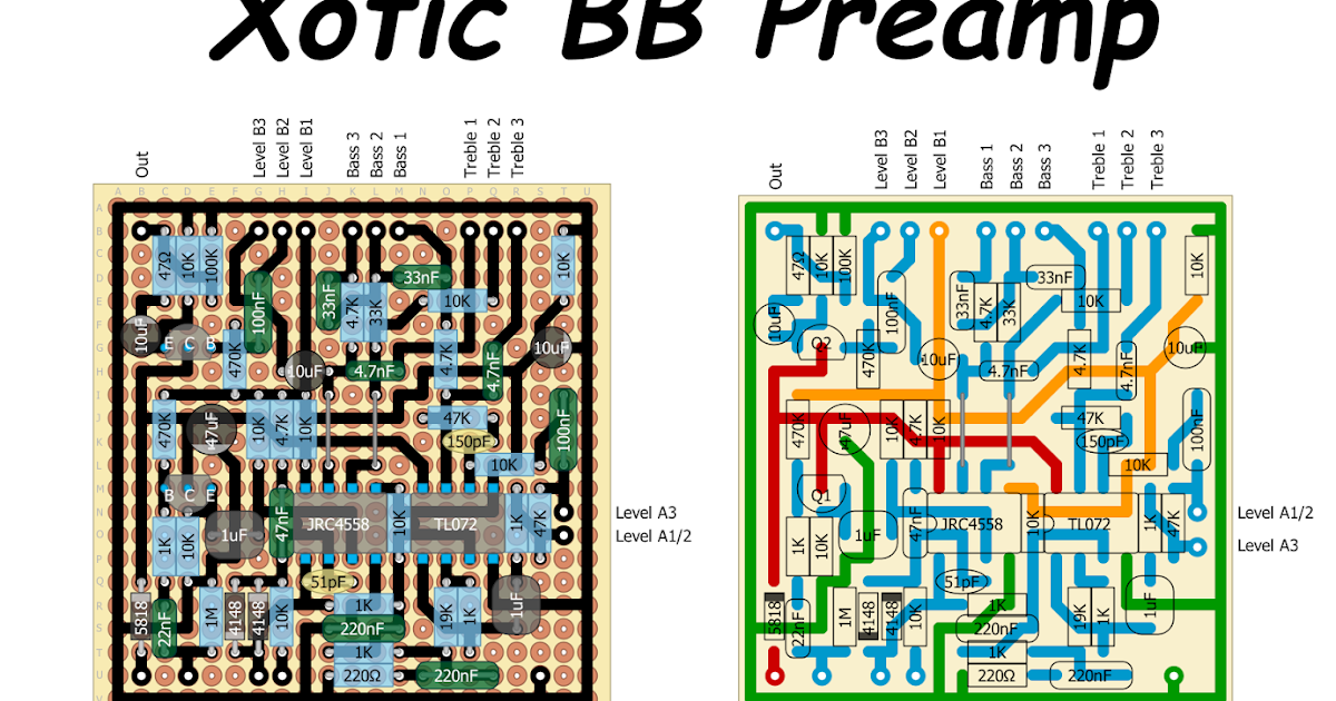 Perf and PCB Effects Layouts: Xotic BB Preamp Xotic Bb Preamp Schematic on