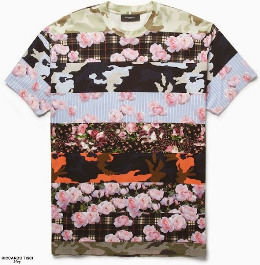 GIVENCHY Men's Tshirt with Flowers & Camouflage