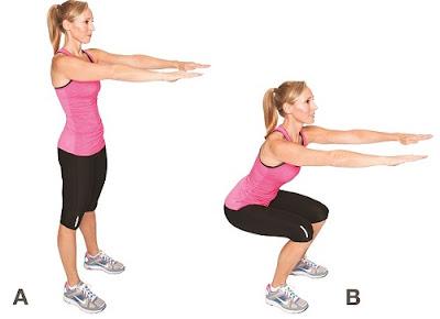 Tips Mengecilkan Betis, Paha dan Bokong dengan olahraga squat