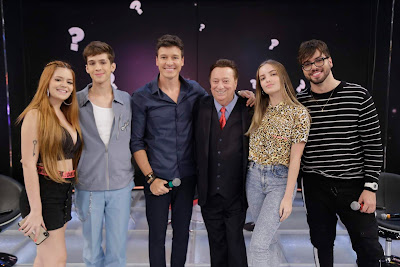 Viih Tube, João Guilherme, Rodrigo Faro, Raul Gil, Giovanna Chaves e T3ddy (Foto: Rodrigo Belentani)