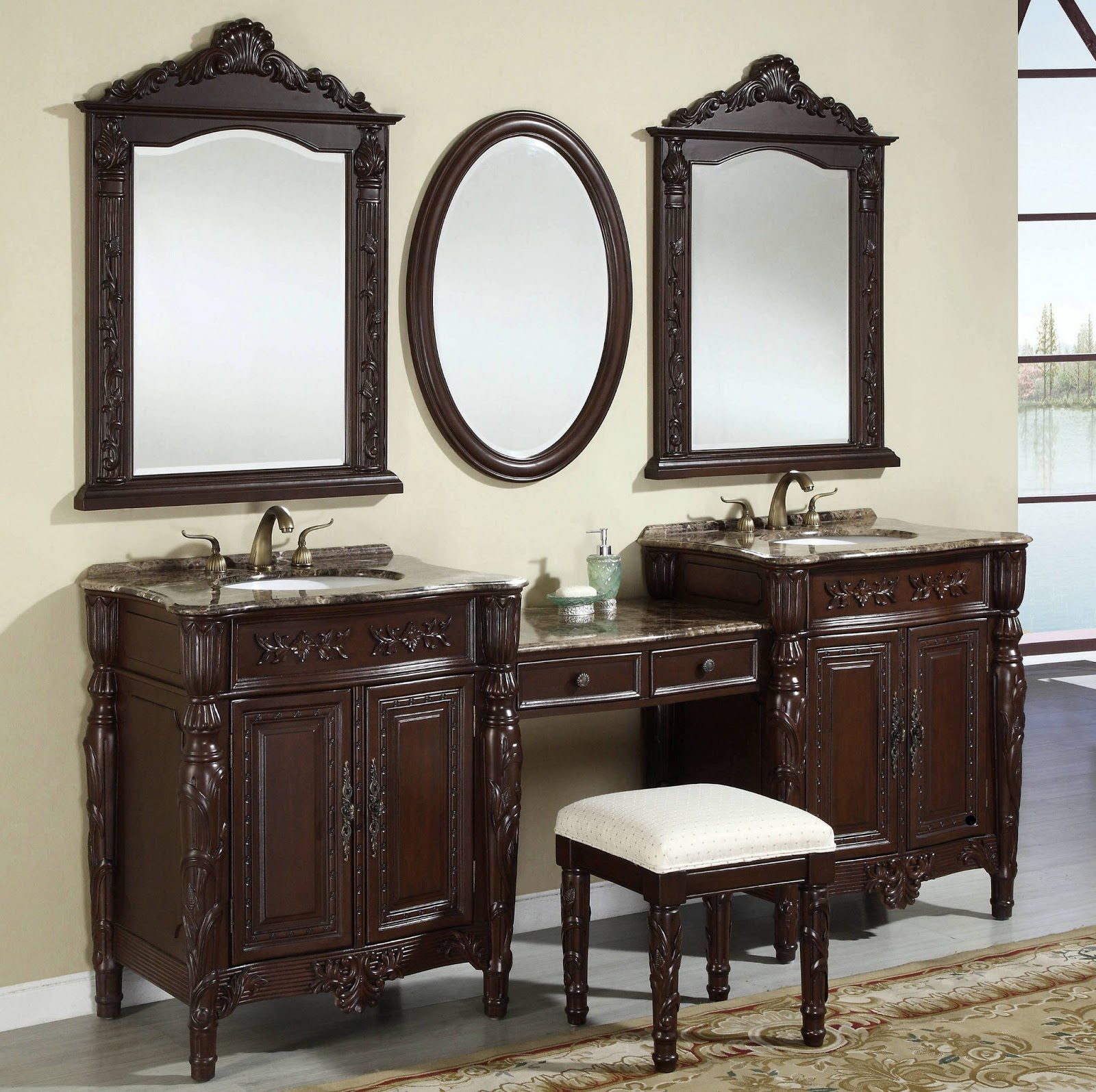 Bathroom Vanity Mirrors Models and Buying Tips ~ Cabinets ...