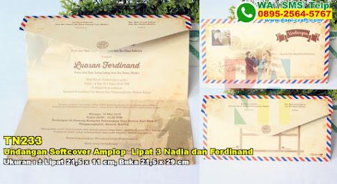 Undangan Softcover Amplop Lipat 3 Nadia Dan Ferdinand