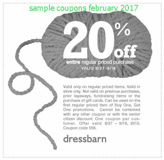 Dress Barn coupons february 2017