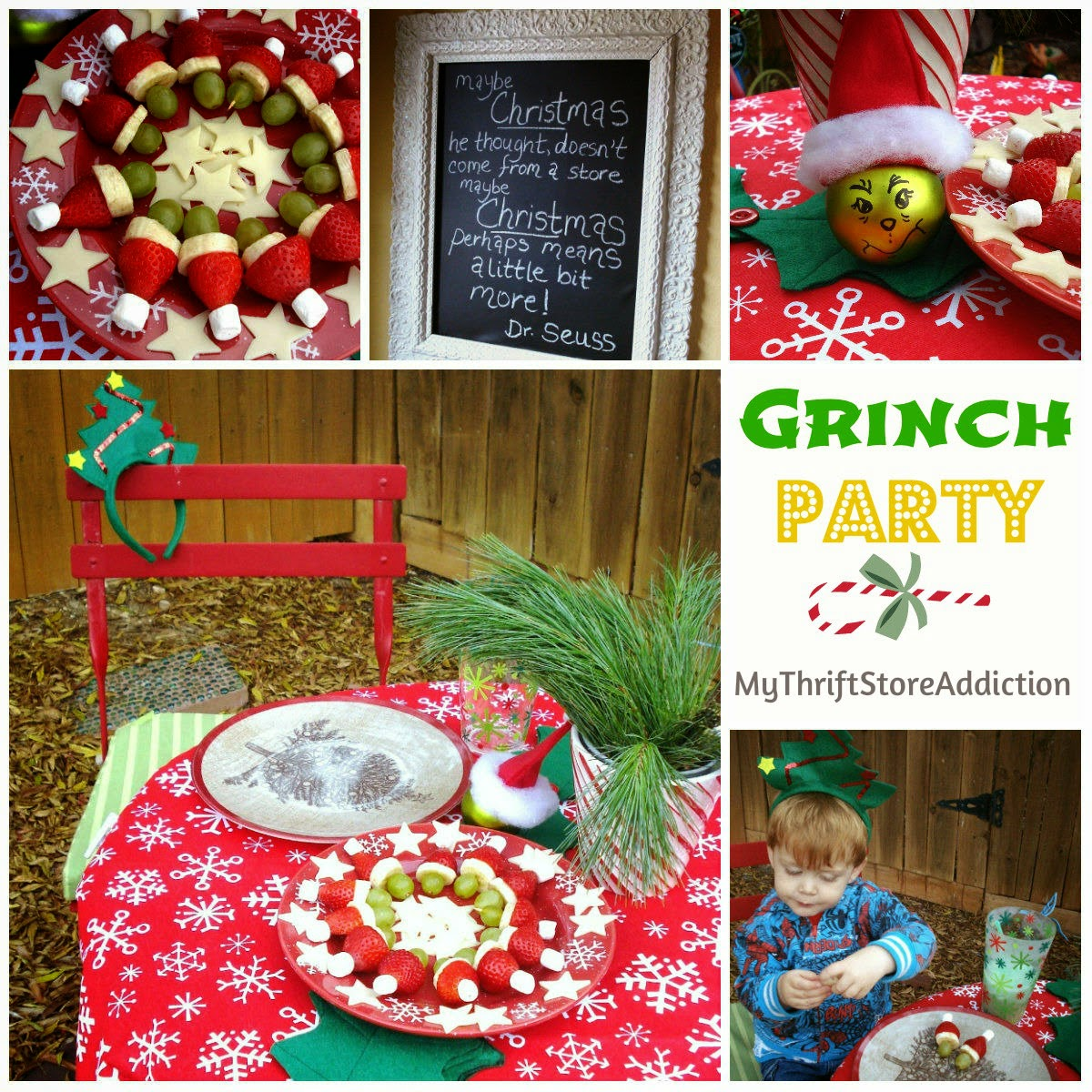 Grinch party crafts and recipes