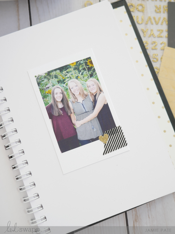 Creating a Thanksgiving book with Heidi Swapp Instax Vintage by Jamie Pate | @jamiepate for @heidiswapp