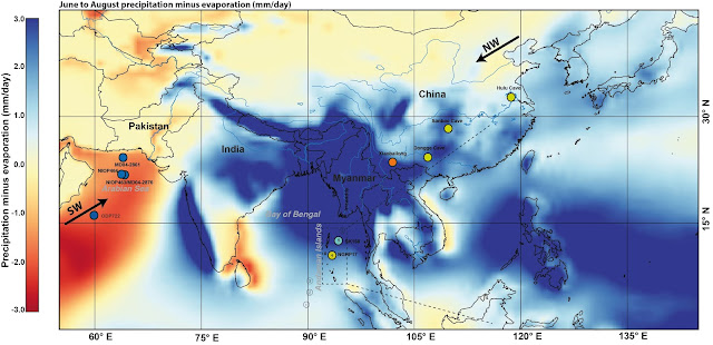 One million years of precipitation history of the monsoon reconstructed