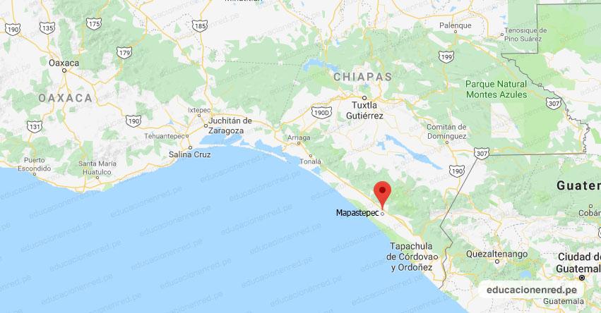 Temblor en México de Magnitud 4.0 (Hoy Martes 25 Agosto 2020) Sismo - Epicentro - Mapastepec - Chiapas - CHIS. - SSN - www.ssn.unam.mx