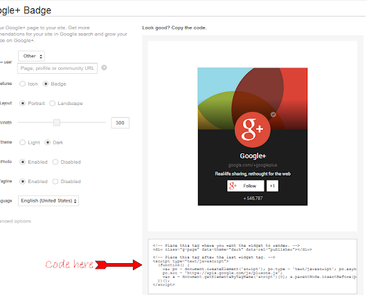 Add Official Google+ Badge Widget To Blogger:Digital Tech Inspiration - Technology Blog