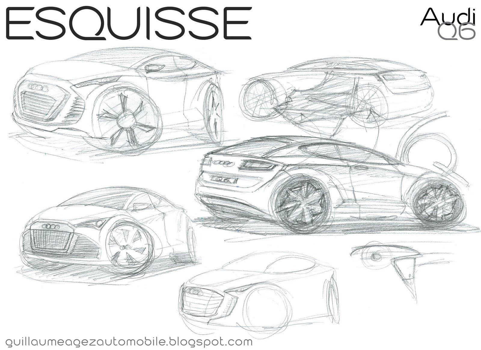 Guillaume Agez Automobile Esquisse Audi Q6