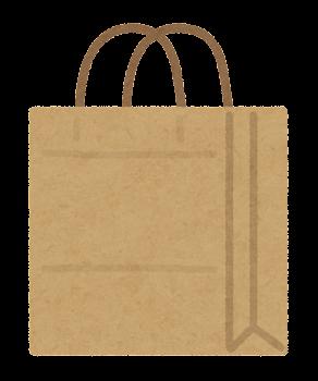 紙袋のイラスト(茶)