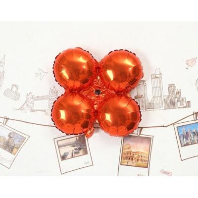 Balon Foil Empat Bulat / Foil 4 Bulat