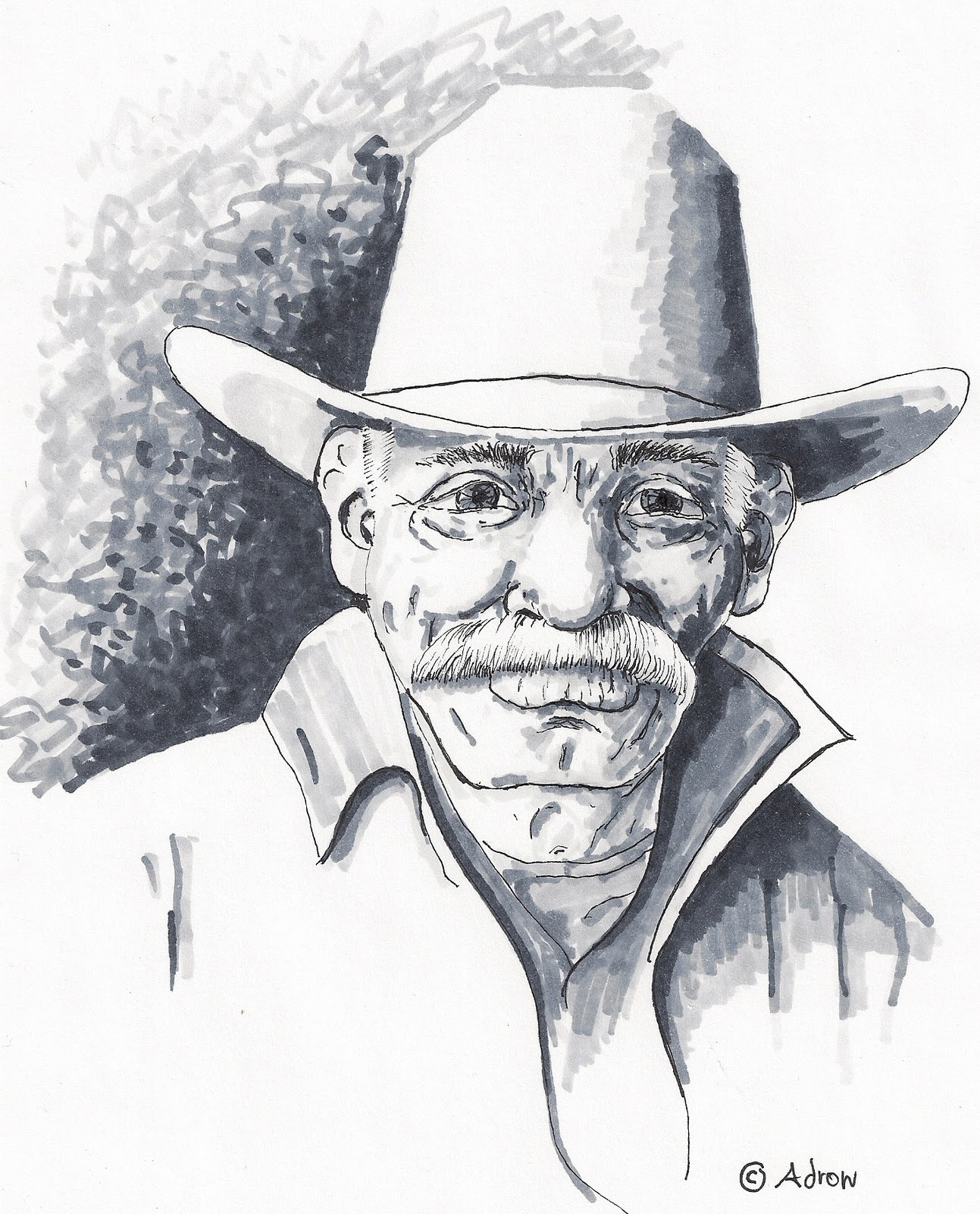 How To Draw Worksheets For The Young Artist How To Draw The Face Of The Old Cowboy