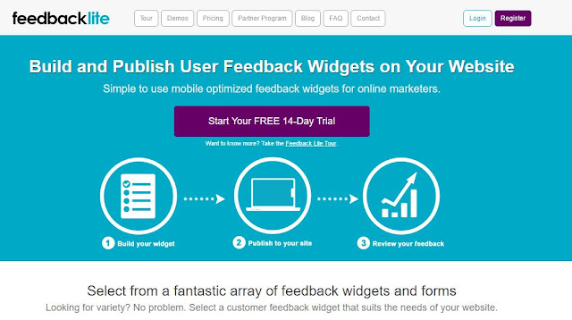 feedbacklite customer feedback tool for websites
