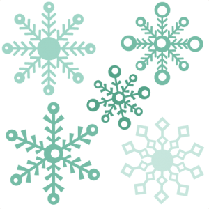Assorted Snowflakes Set by Miss Kate Cuttables