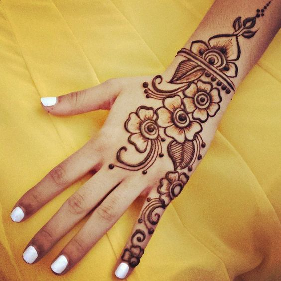 65 Easy Henna Mehndi Designs For Starters  Bling Sparkle