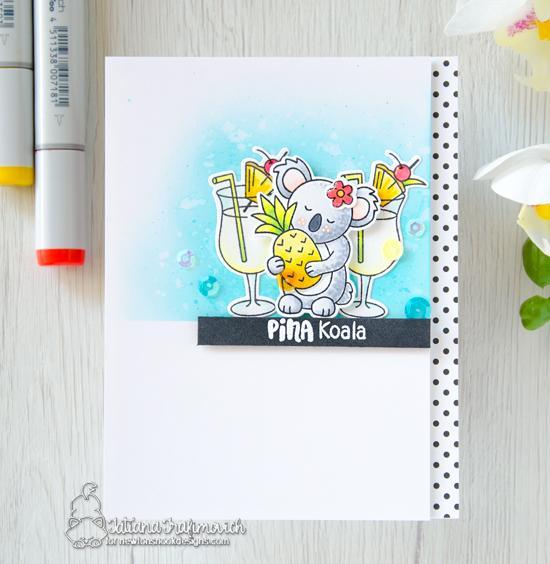 Pina Koala Card by Tatiana Trafimovich | Pina Koala Stamp Set by Newton's Nook Designs #newtonsnook #handmade