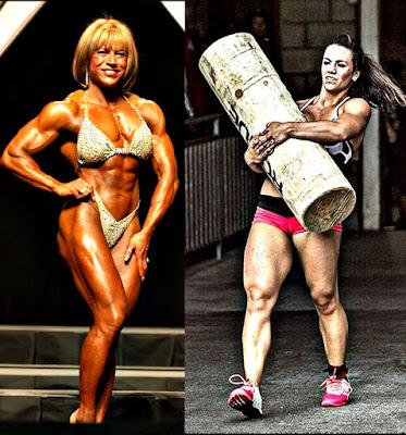 Mujeres ponerse como hombres alzar pesas