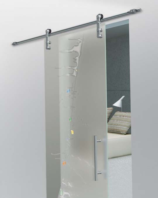 Interior Glass Doors Sliding: Stylish Interior With Sliding Glass Doors
