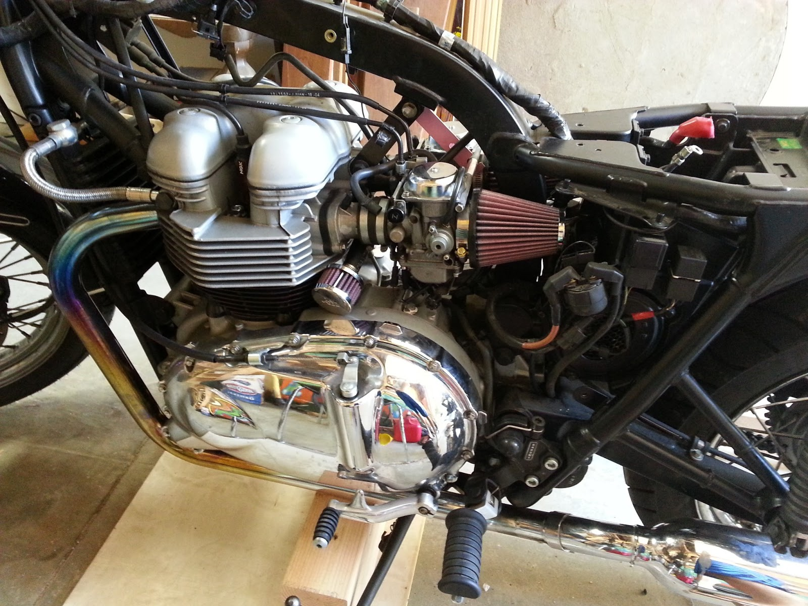 dkudrow: triumph bonneville diy air injection and airbox removal