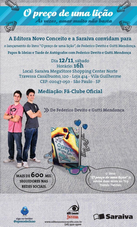 Evento: Lancamento do livro O Preco de Uma Licao, com Federico Devito e Gutti Mendonca 8