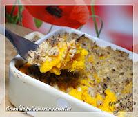 Crumble potimarron noisettes