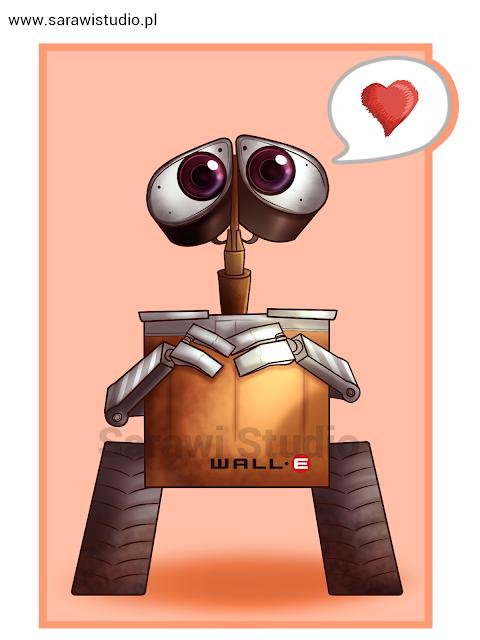 wall-e; robot; pixar; bajka; rysunek; ComCom!!; challenge; wyzwanie;  rysunek
