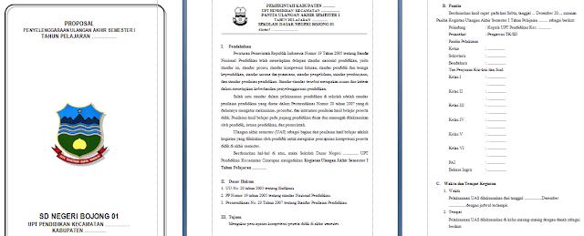 Proposal UAS SD Tahun Pelajaran 2017/2018