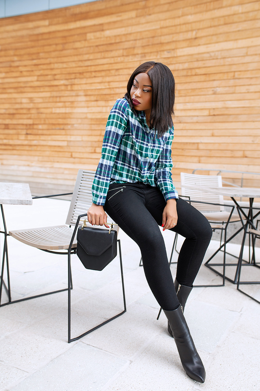 Plaid flannel shirt, fall fashion, www.jadore-fashion.com