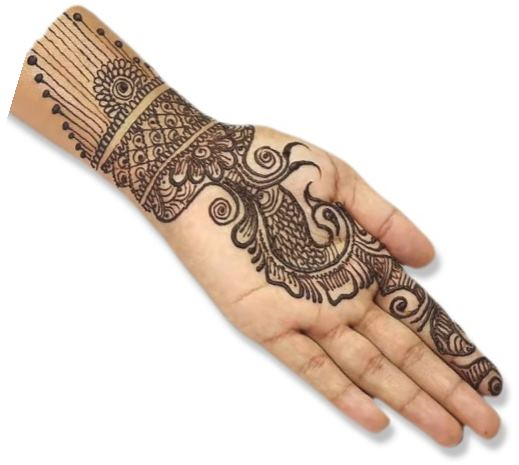 Stylish Peacock Mehndi Designs