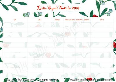 Lista Regali Natale.My Little Inspirations La Lista Dei Regali Di Natale Pdf