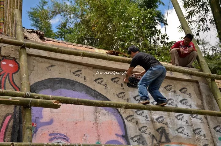 Tamawan Village Making of a Graffitti Mural Baguio City Philippines 66