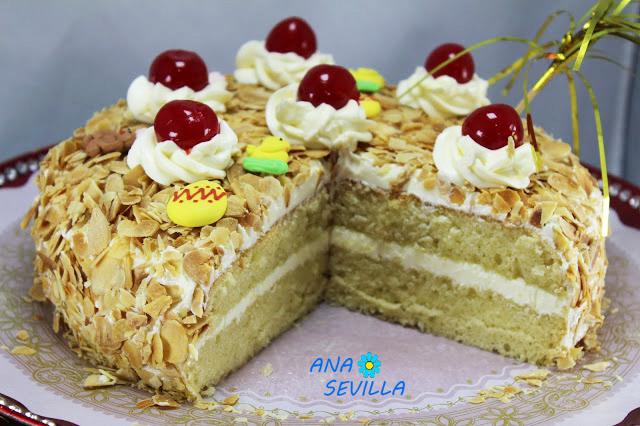 Tarta Sara (Mona de Pascua) Ana Sevilla cocina tradicional